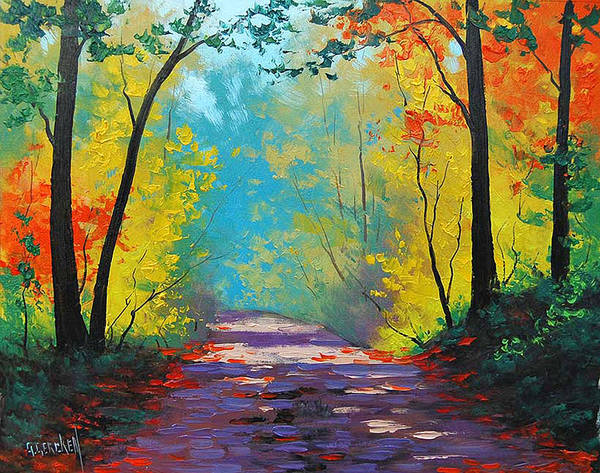 Trail Painting - Autumn Road by Graham Gercken