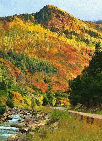 Painting - Autumn Road In Colorado by Dan Sproul