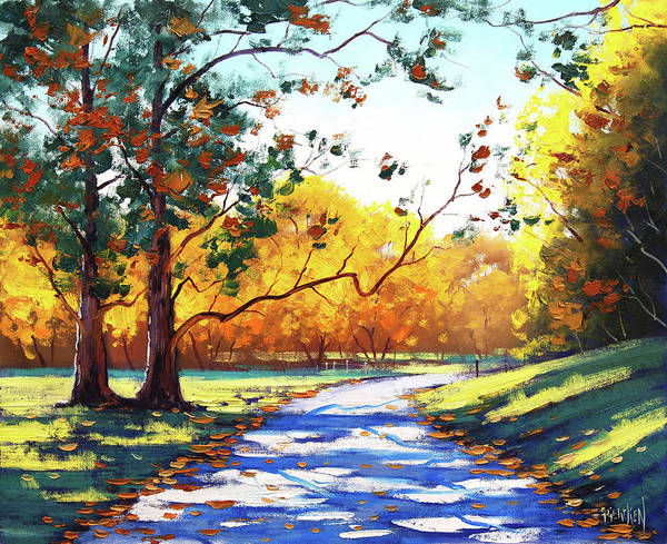 Wall Art - Painting - Autumn Road Mt Wilson by Graham Gercken