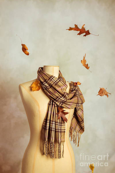 Dress Form Photograph - Autumn Scarf by Amanda Elwell