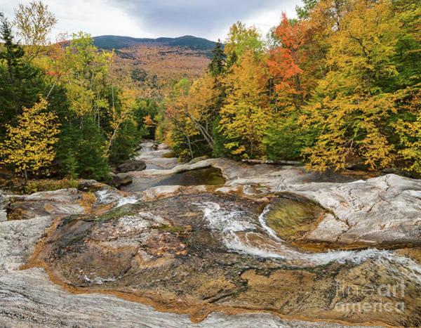 Photograph - Autumn Scene, Step Falls, Newry, Maine #40138 by John Bald