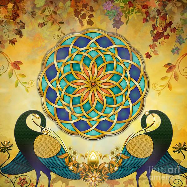 Wall Art - Digital Art - Autumn Serenade - Dawn Version by Peter Awax