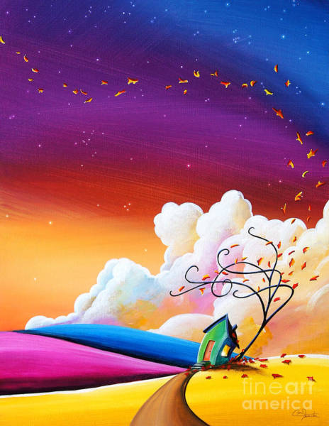 Wall Art - Painting - Autumn Skies IIi by Cindy Thornton