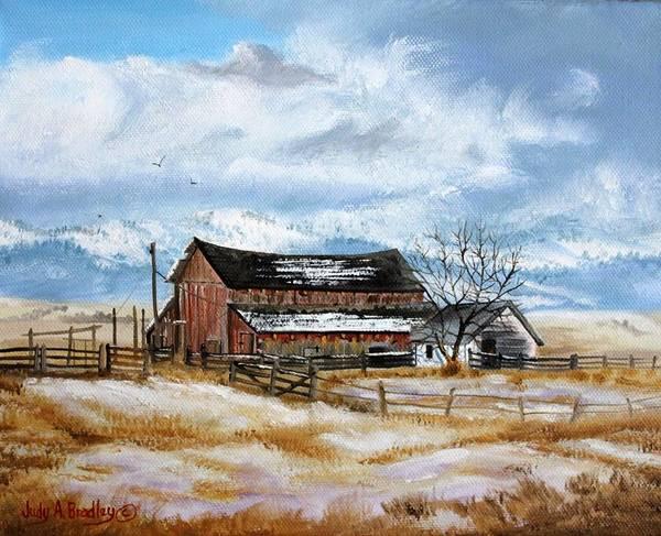 Painting - Autumn Slips Away by Judy Bradley