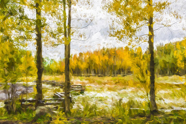 Autumn Colors Digital Art - Autumn Snow Fall II by Jon Glaser