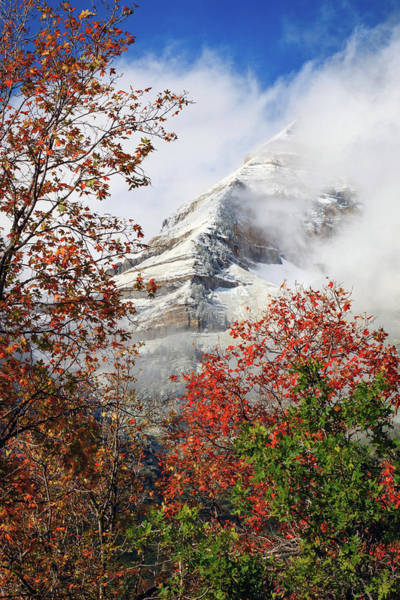 Wall Art - Photograph - Autumn Snow On The East Ridge. by Johnny Adolphson