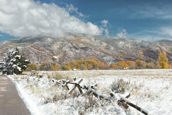 Photograph - Autumn Snowfall In Aspen by Jemmy Archer