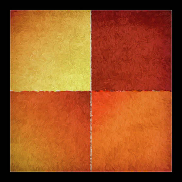 Wall Art - Painting - Autumn Squares by Bonnie Bruno