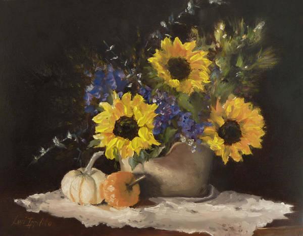 Doily Painting - Autumn Still by Lori Ippolito
