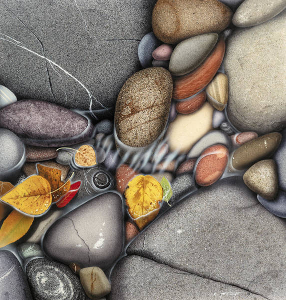 Fall Wall Art - Painting - Autumn Stones by JQ Licensing