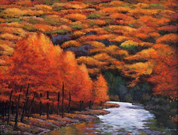 Wall Art - Painting - Autumn Stream by Johnathan Harris