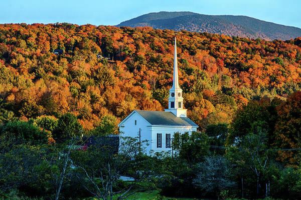 Photograph - Autumn Sun On Stowe Church by Jeff Folger