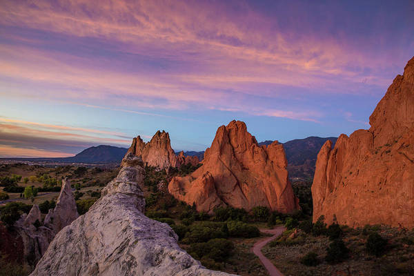 El Paso County Photograph - Autumn Sunrise At Garden Of The Gods, Colorado Springs, Colorado by Bridget Calip
