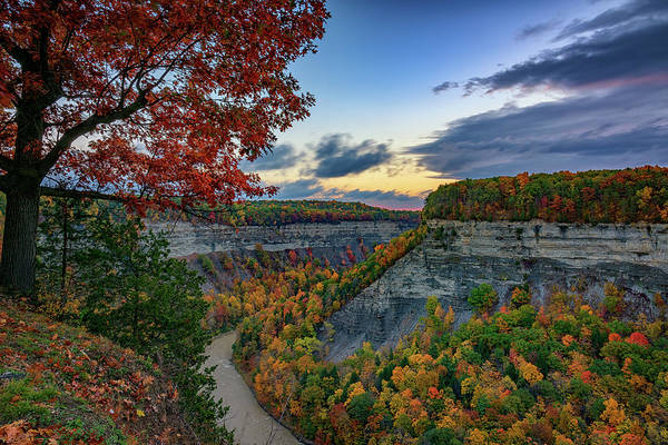 Wall Art - Photograph - Autumn Sunrise In Letchworth by Rick Berk