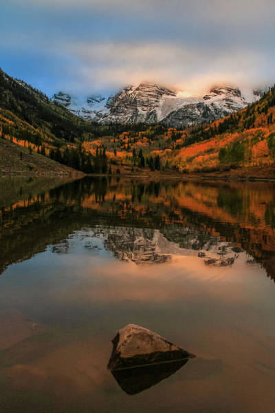 Photograph - Autumn Sunrise On Maroon Lake by Dan Sproul