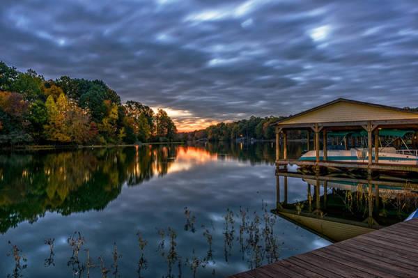 Wall Art - Photograph - Autumn Sunrise On The Lake by Lori Coleman