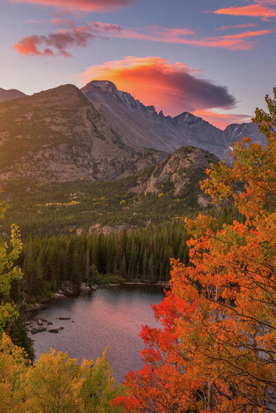 Photograph - Autumn Sunrise Over Longs Peak by Darren White