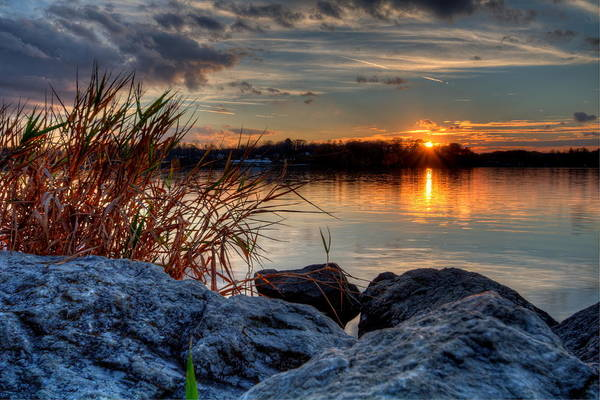 Photograph - Autumn Sunset by David Dufresne