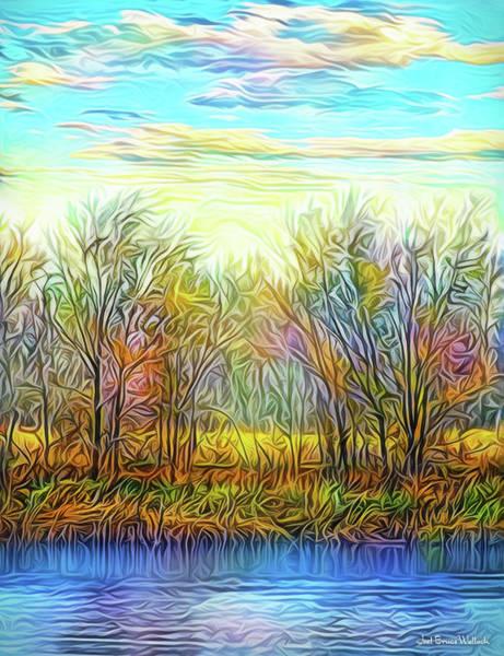 Digital Art - Autumn Sunset Dreamtime by Joel Bruce Wallach