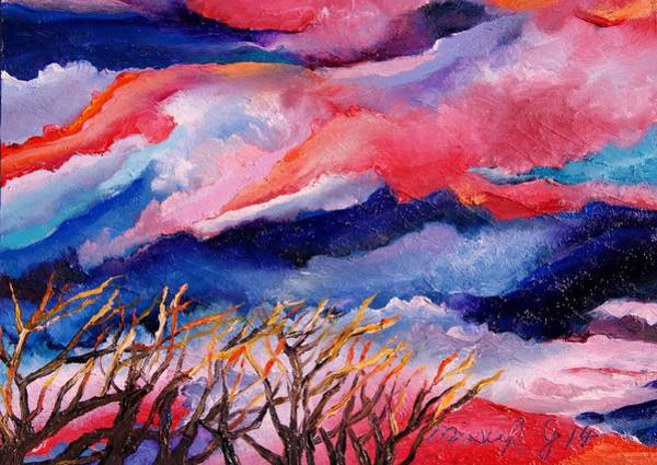 Magnificence Painting - Autumn Sunset In The Sky by Misuk Jenkins