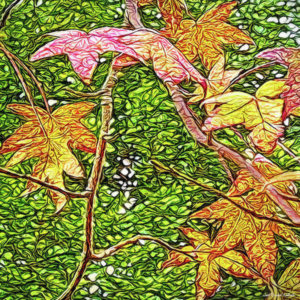 Digital Art - Autumn Sycamore Afternoon by Joel Bruce Wallach