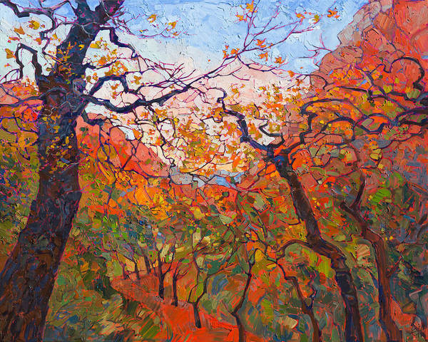 Zion Painting - Autumn Tapestries by Erin Hanson