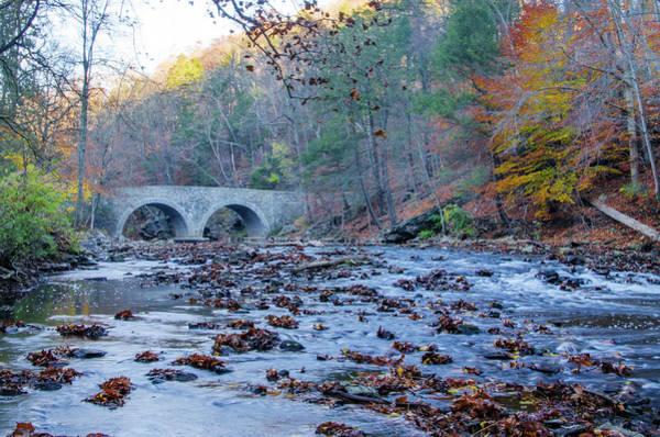 Photograph - Autumn - The Rex Avenue Bridge - Philadephia by Bill Cannon