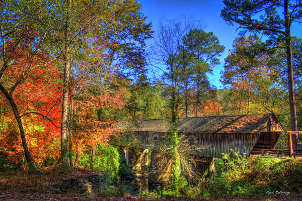 Photograph - Autumn Time Concord Covered Bridge Atlanta Georgia Art by Reid Callaway