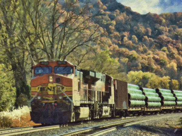 Painting - Autumn Train - Lnd961602 by Dean Wittle