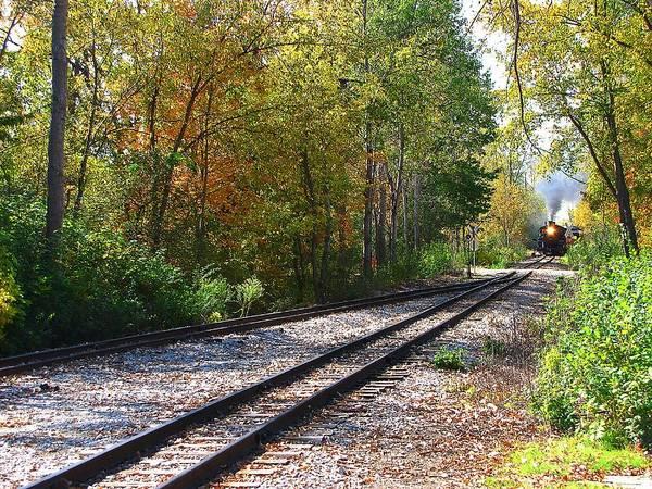 Photograph - Autumn Train by Scott Hovind
