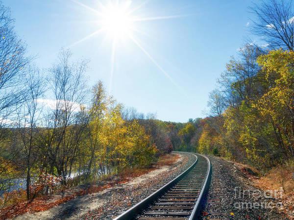 Wall Art - Photograph - Autumn Train Tracks by DAC Photo