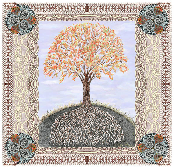 Drawing - Autumn Tree Of Life by Lise Winne