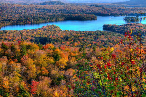 Fulton Chain Of Lakes Photograph - Autumn View From Bald Mountain by David Patterson