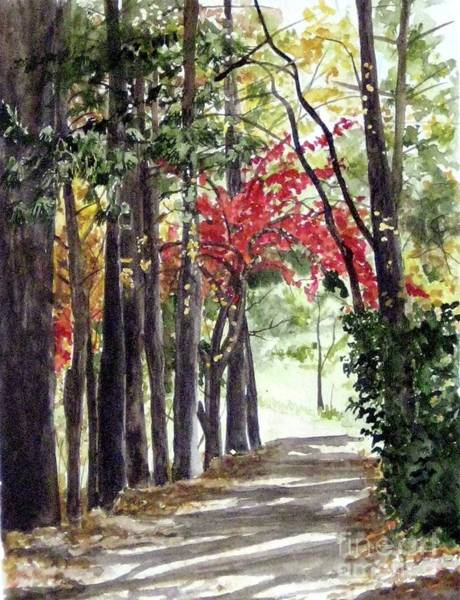 Autumn Walk Art Print by Carla Dabney