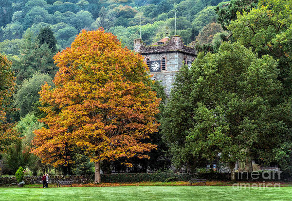 Coed Photograph - Autumn Walkers by Adrian Evans