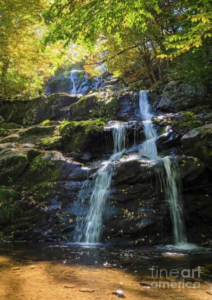 Photograph - Autumn Waterfall Scene, Snp, Va -74183-74184 by John Bald
