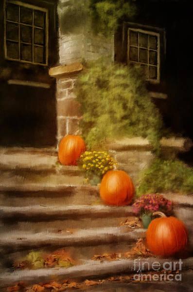 Wall Art - Digital Art - Autumn Welcome by Lois Bryan