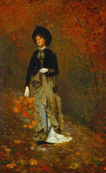 Homer Painting - Autumn by Winslow Homer