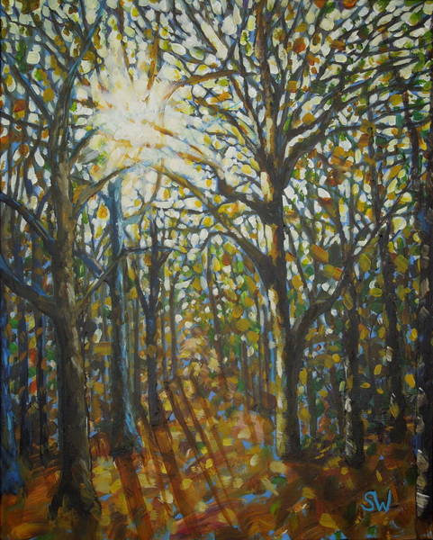 Painting - Autumn Wood by Shirley Wellstead