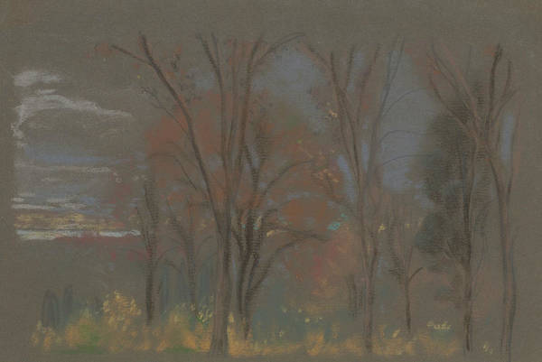 Pastel - Autumn Woods by Arthur Bowen Davies