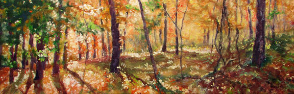 Wall Art - Painting - Autumn Woods by Bonnie Mason