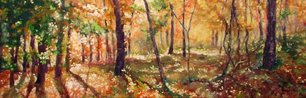 Roanoke Wall Art - Painting - Autumn Woods by Bonnie Mason