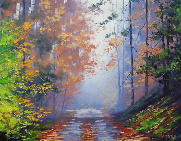 Realist Painting - Autumn Woods by Graham Gercken