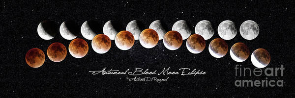 Eclipse Mixed Media - Autumnal Blood Moon Eclipse by Autumn Dawn