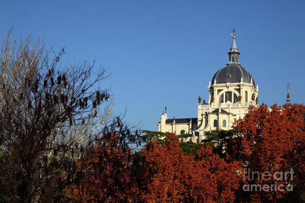 Photograph - Autumnal Madrid And Almudena Cathedral by James Brunker