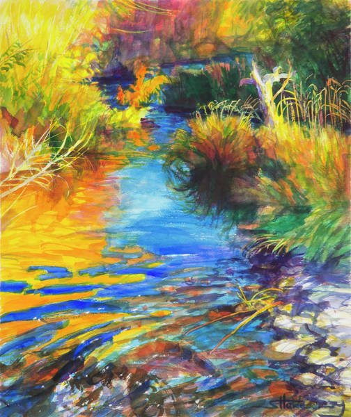 Wall Art - Painting - Autumnal Reflections by Steve Henderson