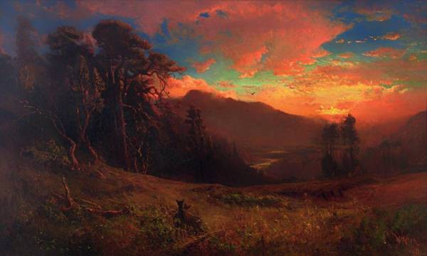 Russian River Painting - Autumnal Sunset On The Russian River Evening Glow by Mountain Dreams