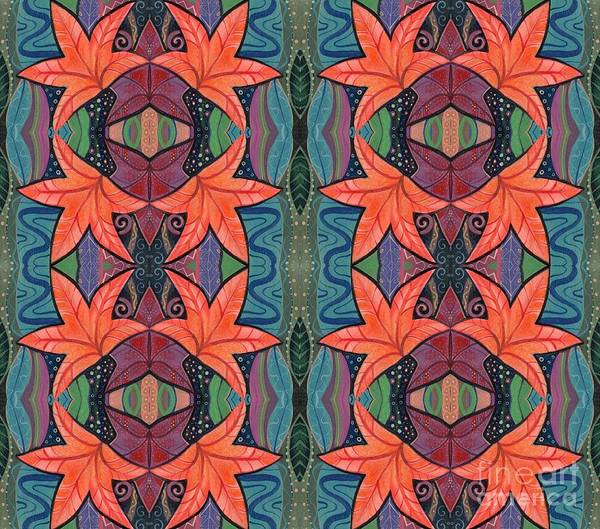 Digital Art - Autumnal Symmetry Arrangement by Helena Tiainen