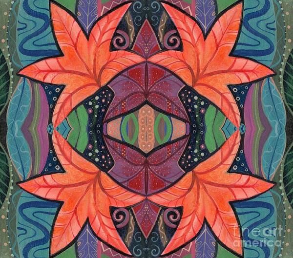 Digital Art - Autumnal Symmetry by Helena Tiainen