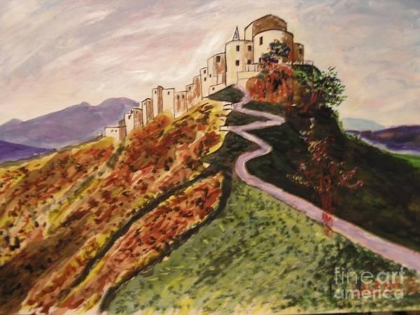 Wall Art - Painting - autunno a Petralia Soprana by Leonardo Albanese